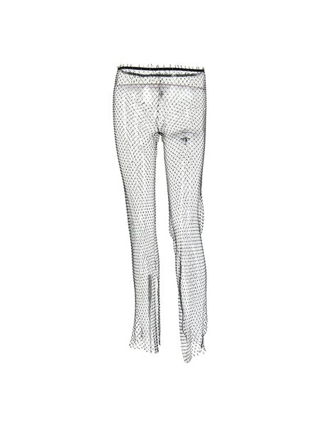 Crystal Mesh Pants Split