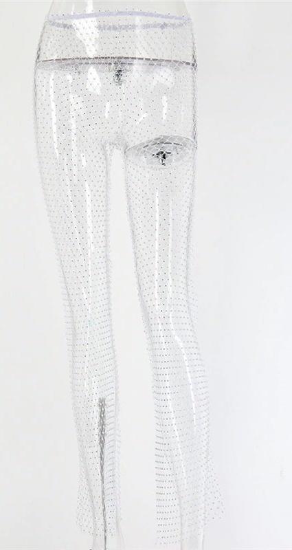 Crystal Mesh Pants Split