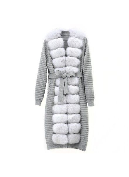 Fox Fur Maxi Cardigan Anjali