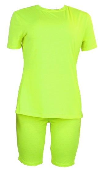 Neon Two Piece Biker Short