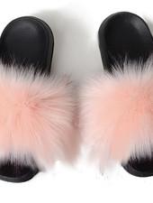 Fox Fur Slides Cherifa
