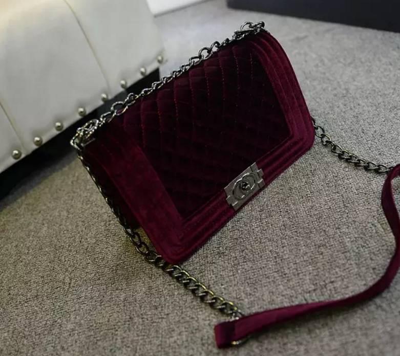 Boya Bag Velvet (L)