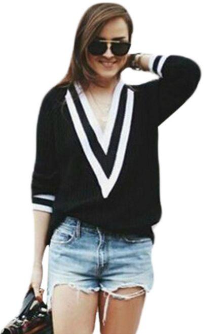 Knit Sweater Deep V