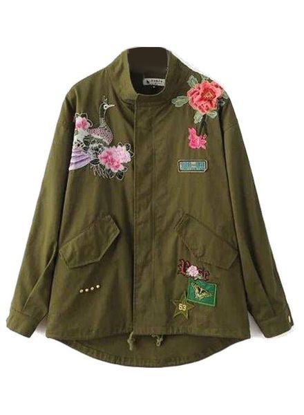 Jacket Army Floral