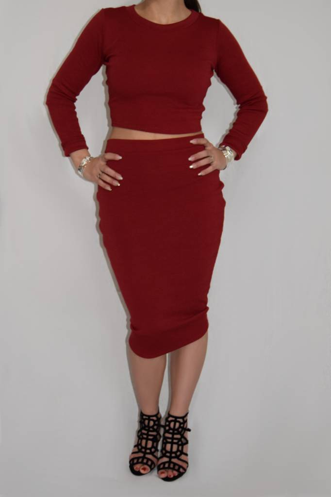 Two Piece Ribbed