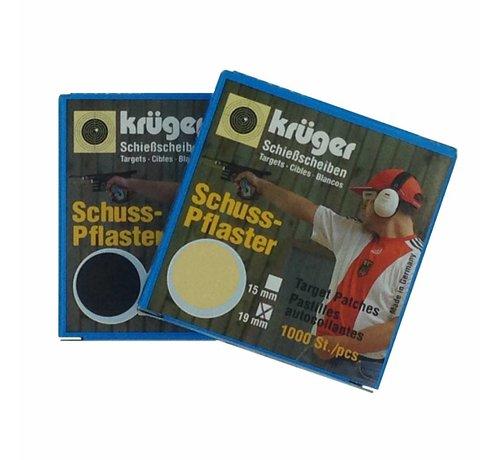 Kruger Kruger target patches 15mm Blanc 8515