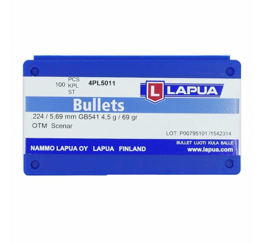 Lapua Scenar Bullets .223 69gr