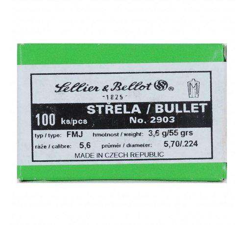 Sellier & Bellot Sellier & Bellot kogelkoppen Kal. .223, 55gr