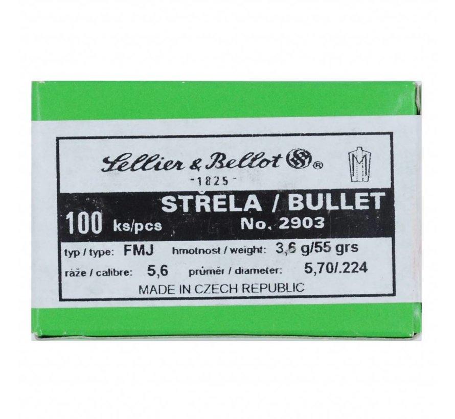 Sellier & Bellot kogelkoppen Kal. .223, 55gr