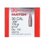 Hornady Kogelkoppen Hornady .30 HPBT Match 178 grain 30715