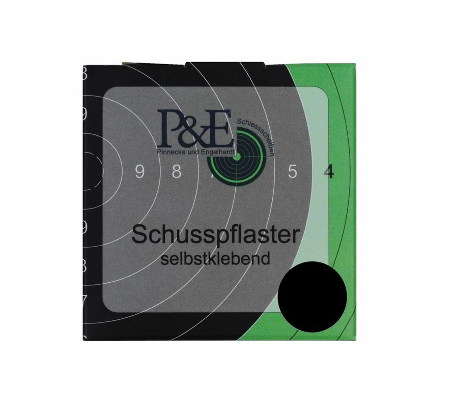 P&E Schotplakkers 15mm Zwart