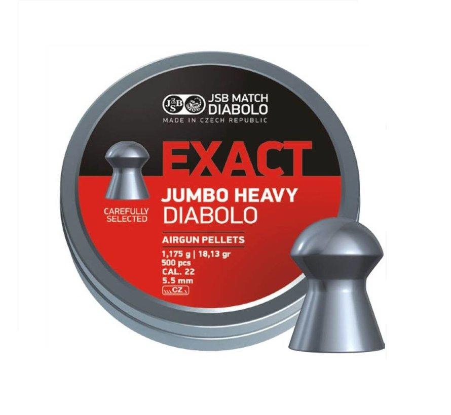 JSB Exact Jumbo Heavy Diabolo 5,52mm 18,13gr