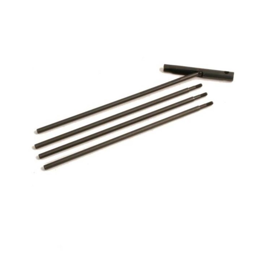 Cleaningrod  .22 / 5.5 mm / 4 parts