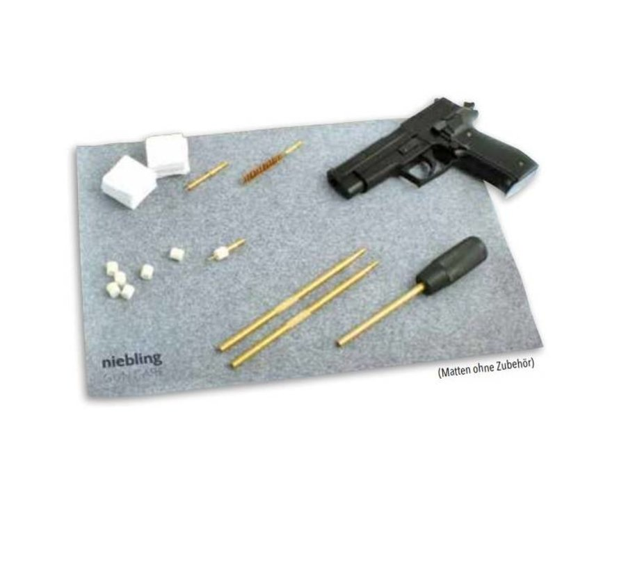 Weapon cleaning mat for pistol and revolver