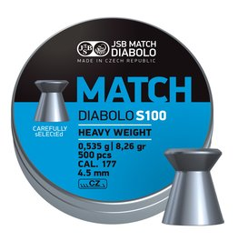 JSB  JSB Match Diabolo S100 Heavy Weight 4,49mm 8,26gr