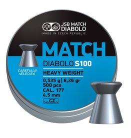 JSB  JSB Match Diabolo S100 Heavy Weight 8,26gr. 4.5mm.