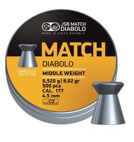 JSB  JSB Match Diabolo Middle Weight 4,50mm 8,02gr