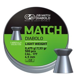 JSB  JSB Match Diabolo Light Weight 4,50mm 7,33gr