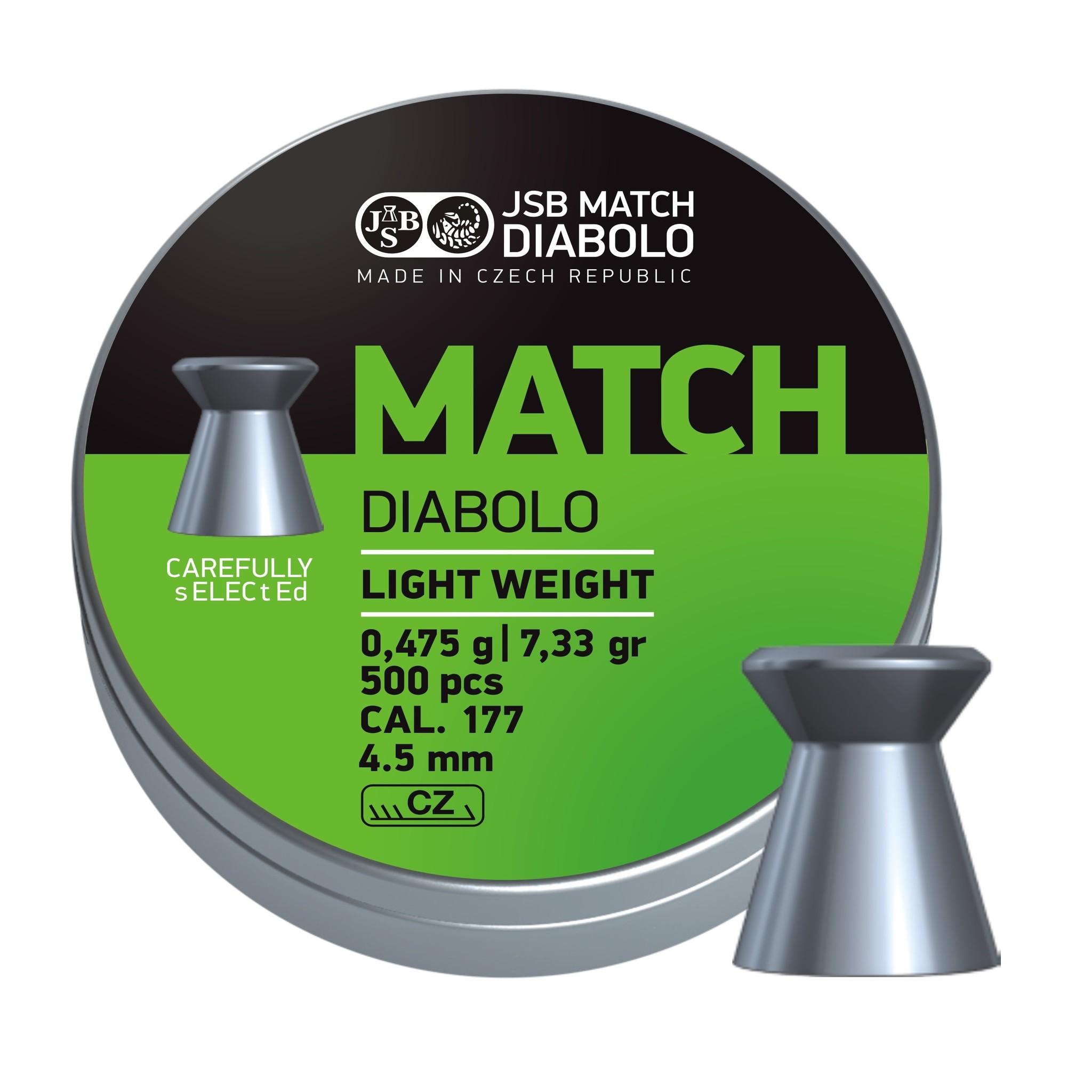 JSB  JSB Match Diabolo Light Weight 4,50mm 7,33gr
