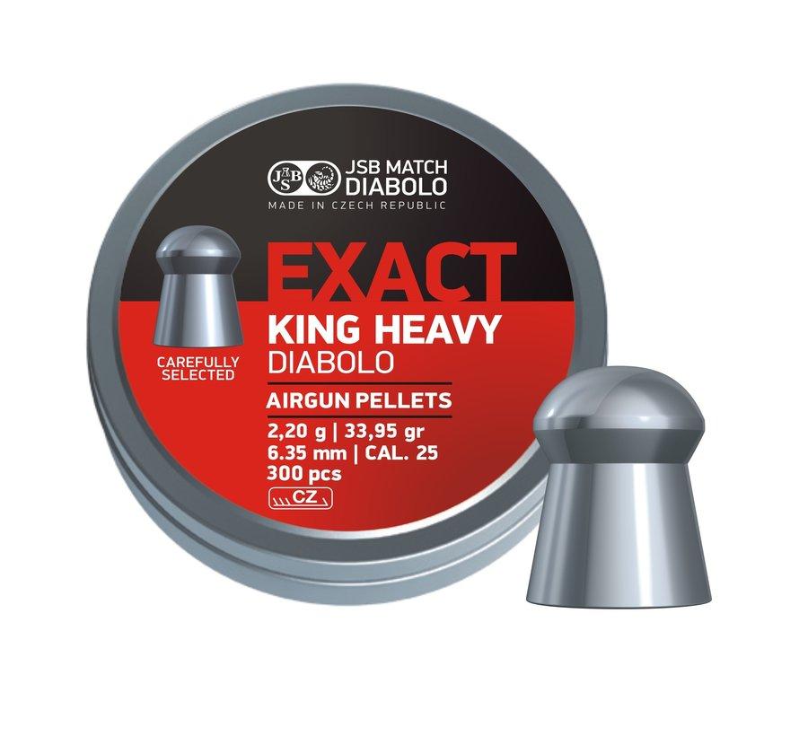 JSB Exact King Heavy Diabolo 6,35mm 33,95gr (300)