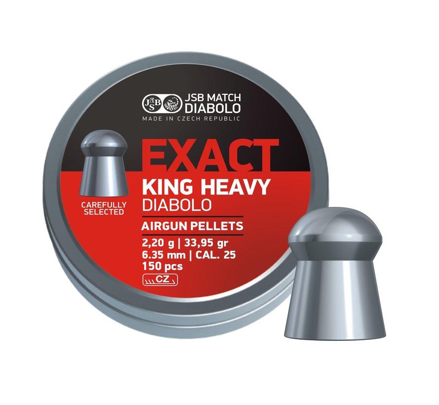 JSB Exact King Heavy Diabolo 6,35mm 33,95gr (150)