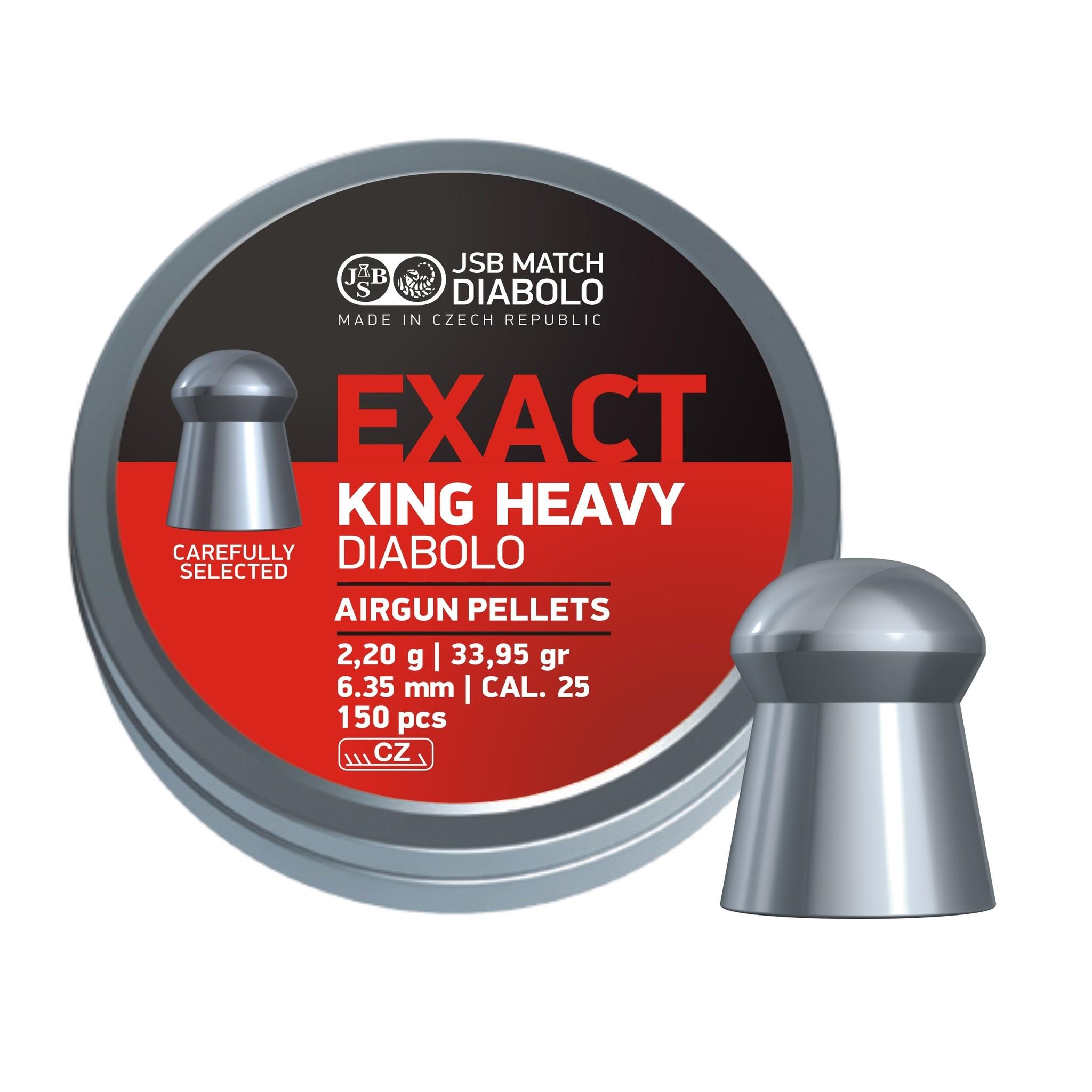 JSB  JSB Exact King Heavy Diabolo 6,35mm 33,95gr (150)