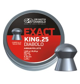 JSB  JSB Exact King .25 Diabolo 6,35mm 25,39gr (350)