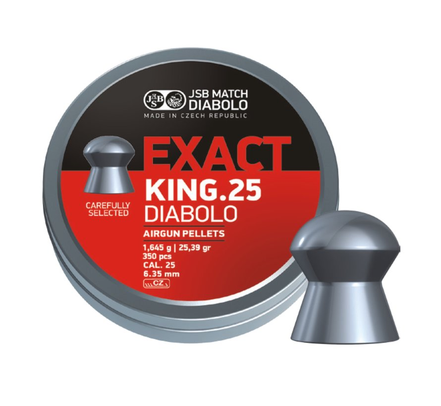 JSB Exact King .25 Diabolo 6,35mm 25,39gr (350)