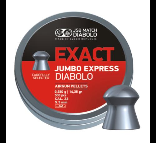 JSB  JSB Exact Jumbo Express Diabolo 5.52mm 14.35gr (500)