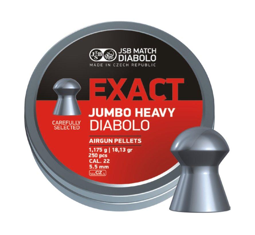 JSB Exact Diabolo Jumbo Heavy 5.5mm 18.13gr (250st)