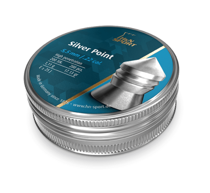 H&N Silver Point 17,13gr. 5.5mm.