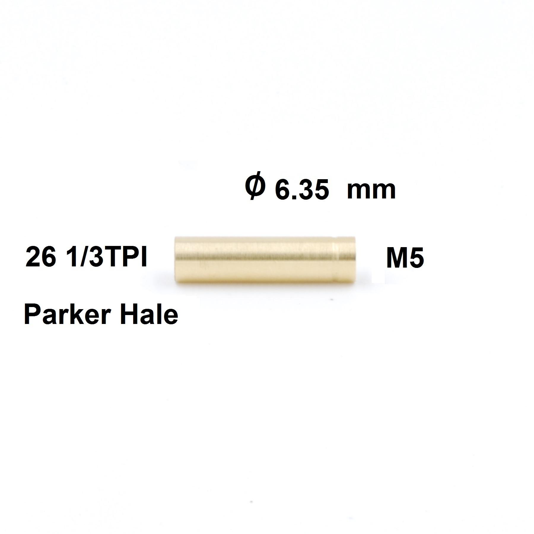 Poetsstok Adapter Parker Hale binnendraad  - M5 binnendraad