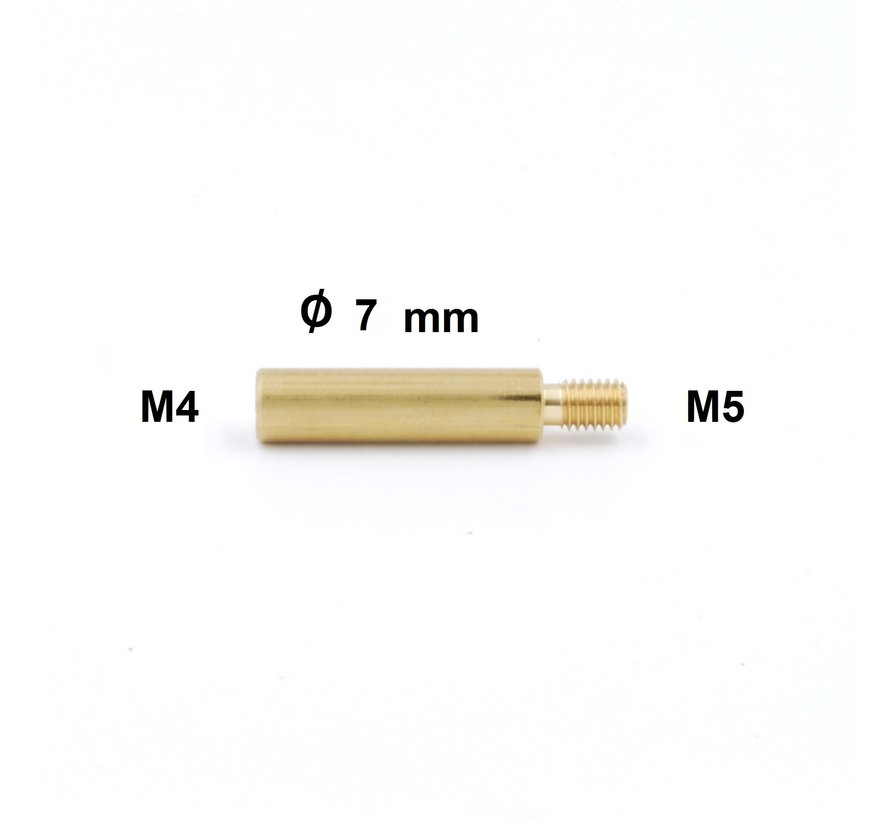 Cleaning Rod Adapter Niebling M4 internal thread to  M5 external  thread