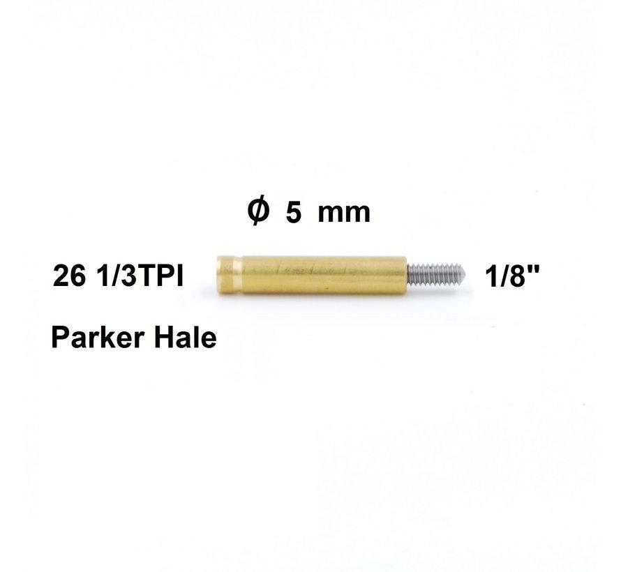 "Poetsstok Adapter Parker Hale binnendraad  - 1/8"" buitendraad"