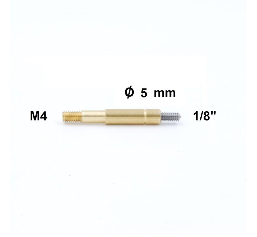 """Cleaning Rod Adapter Niebling M4  external thread  - 1/8"""" external thread"""