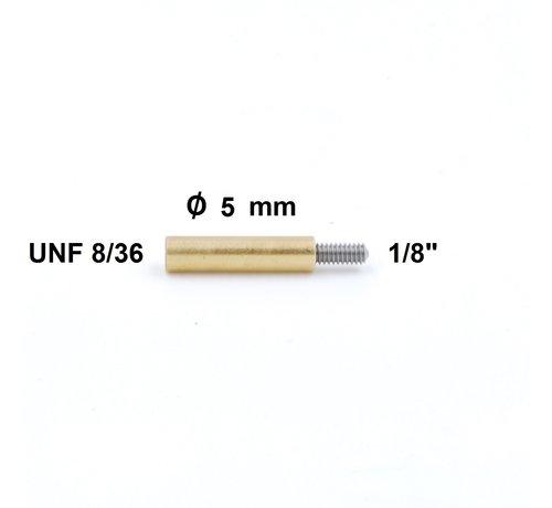 "Cleaning Rod Adapter UNF 8-36 internal thread   - 1/8"" external thread  (Dewey)"