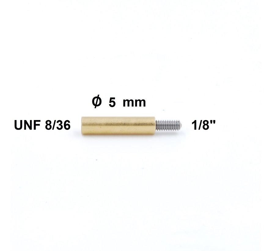 """Poetsstok Adapter UNF 8-36 binnendraad  - 1/8"""" buitendraad (Dewey)"""
