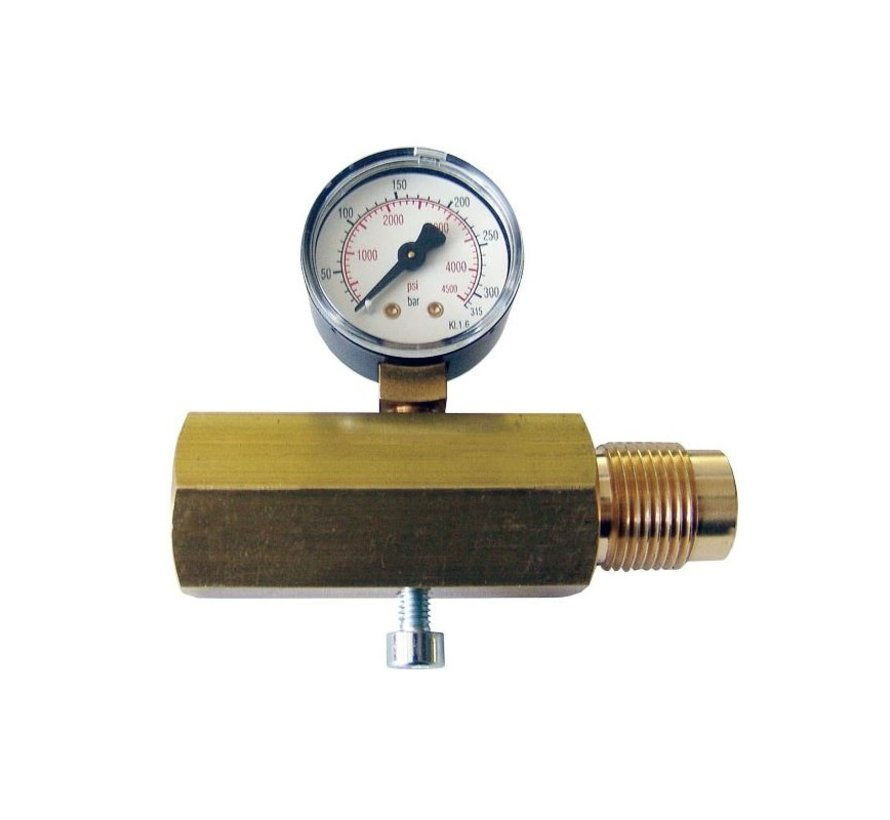 Gehmann M225 DIN connector with Manometer 200 Bar
