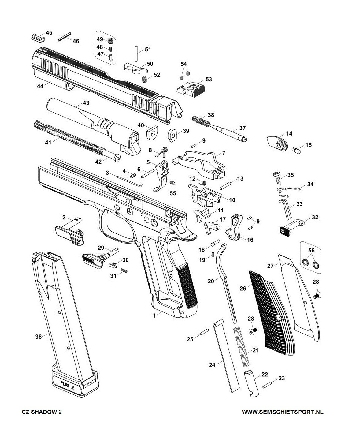 Exploded View CZ SHADOW 2