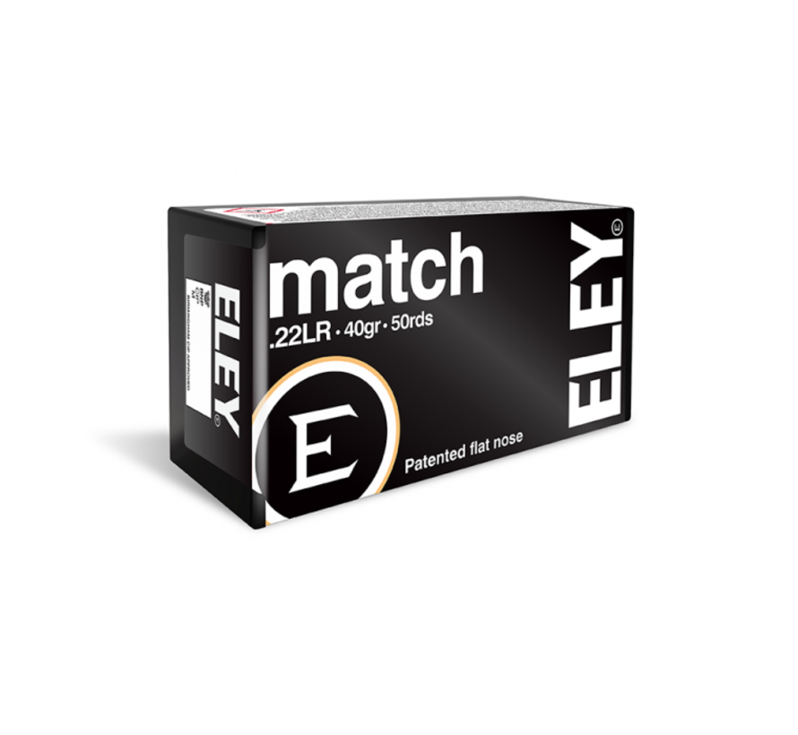 Match .22 LR ammunition by Eley