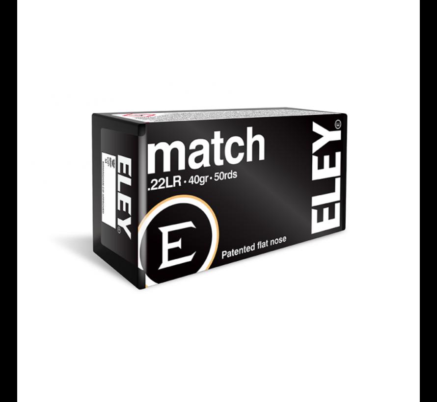 Match .22 LR munitie van Eley