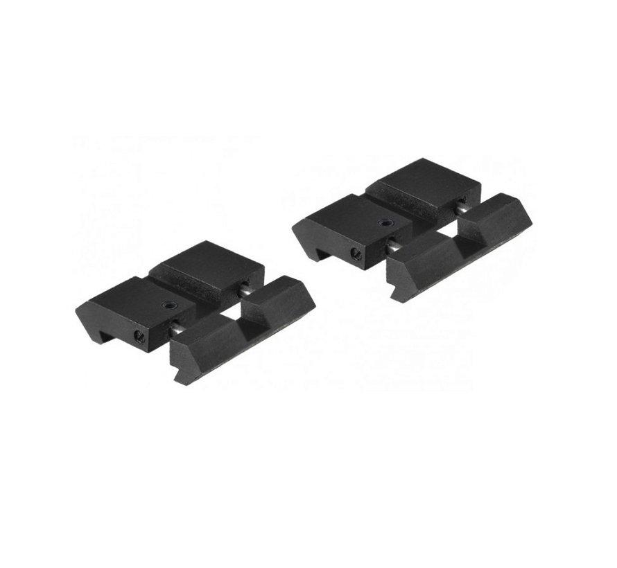 Dovetail naar picatinny/weaver adapter van UTG