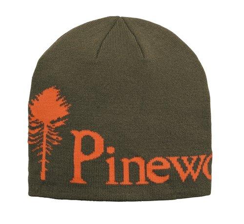 Pinewood Groen melange muts van Pinewood