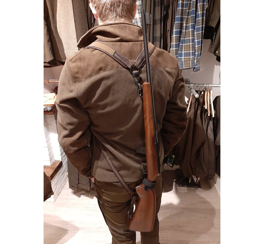 Backpack rifle sling with  neoprene brown by Niggeloh