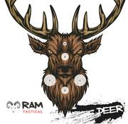 RAM Targets 14x14 schietkaart Hert
