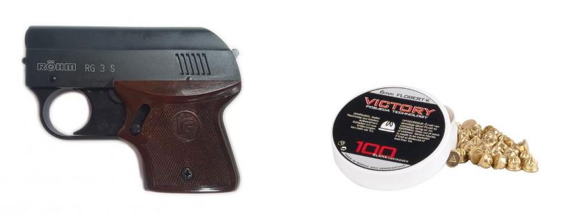 Alarmpistool 6mm en munitie