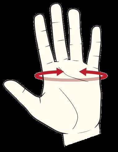Omtrek hand schiethandschoen