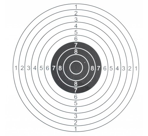 ASG Shooting target 14x14 cm 1 bullseye