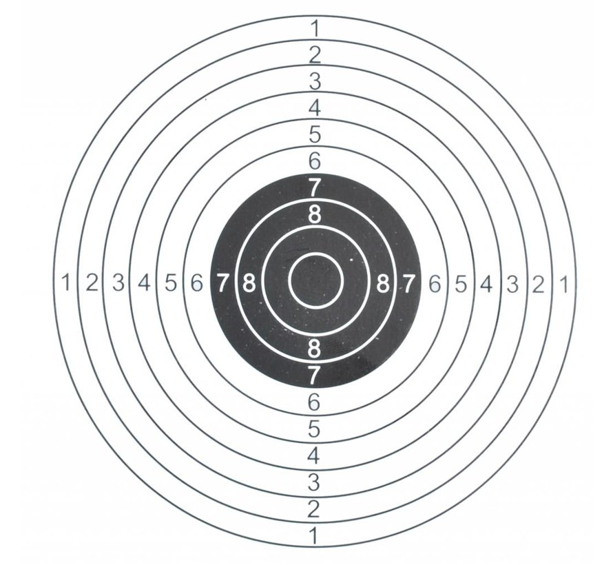 Shooting target 14x14 cm 1 bullseye