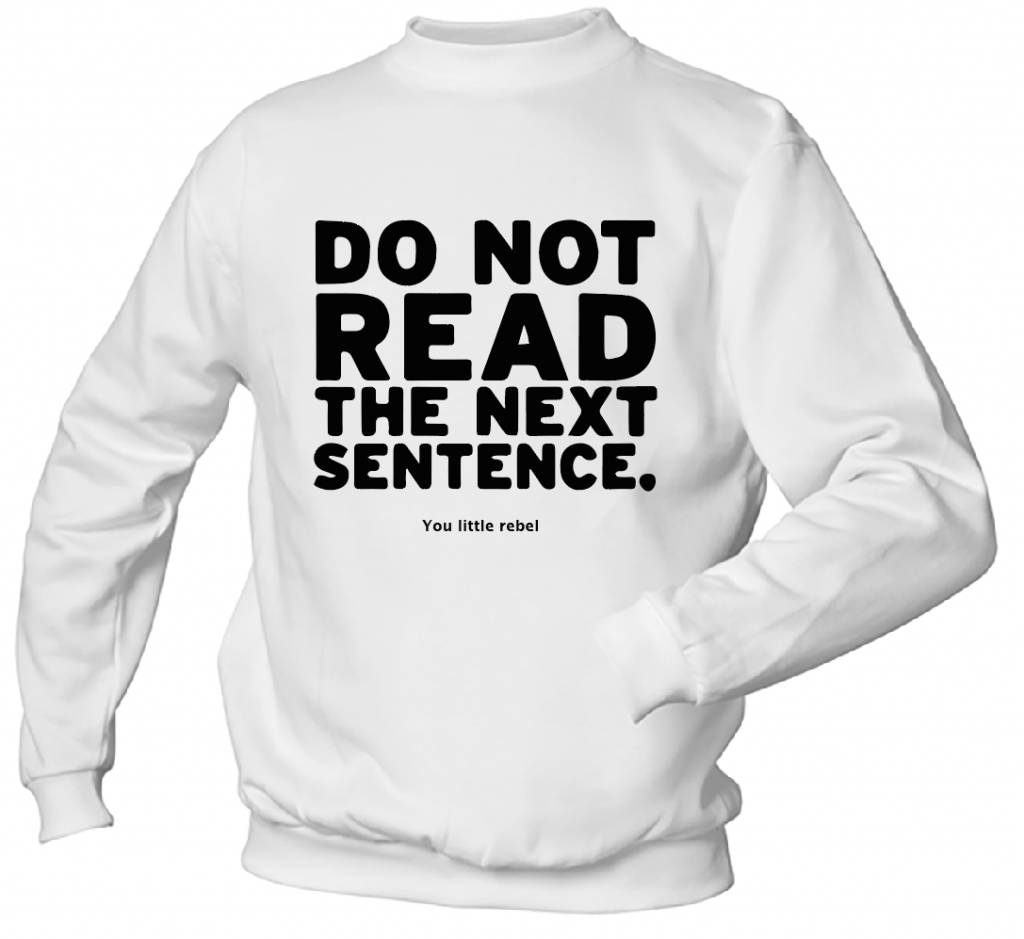Do not Read the Next Sentence